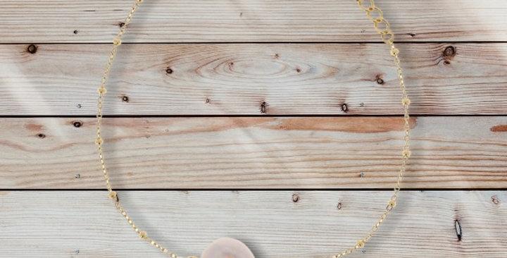 Bracelet Perle D'eau Douce Doré Acier