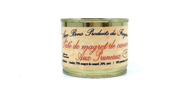 Pâté de Magret de Canard aux Pruneaux, 180g, Aux Bons Produits du Fraysse