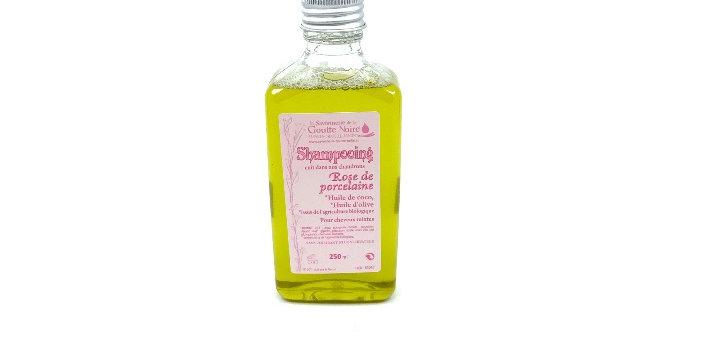 Shampooing Rose De Porcelaine 250Ml, Savonnerie De La Goutte Noire
