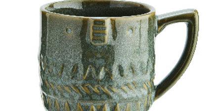 Mug Stoneware Face Vert, Madam Stoltz