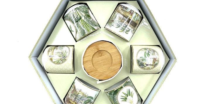 Coffret 6 Tasses+Soucoupes Bambou Ceylon, Easy Life