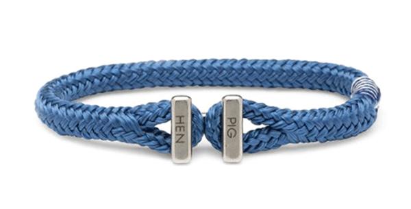 Bracelet Corde Ike Blue L,Pig & Hen