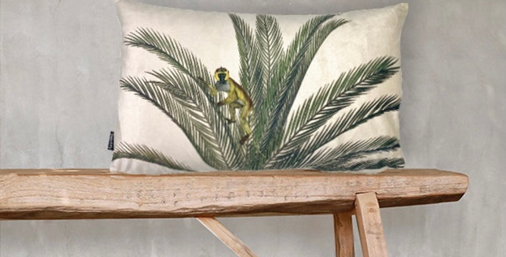 Coussin 30X50 Palm, Vanilla Fly