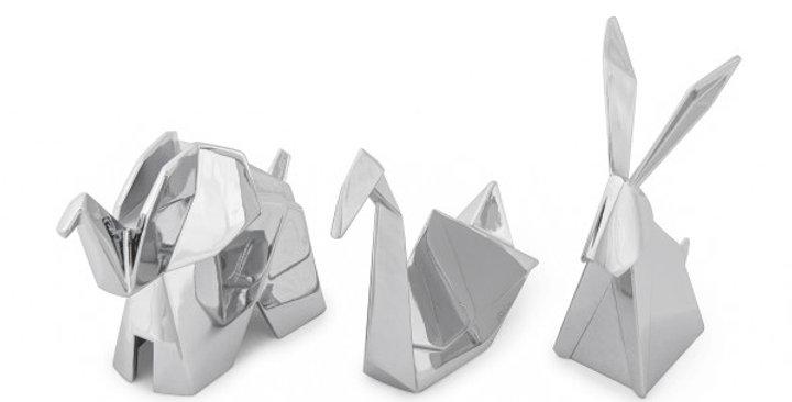 Porte Bijoux Origami Chrome, Umbra