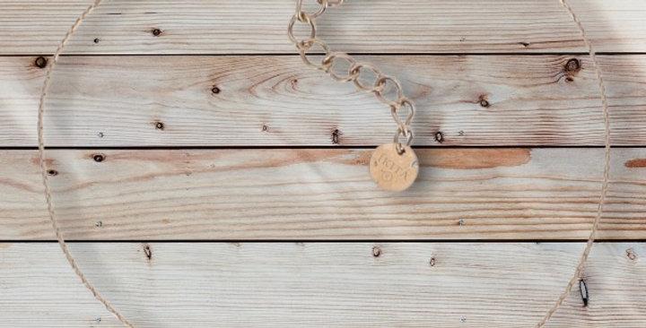 Bracelet Cuivré/Parme Acier