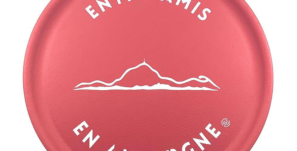 Plateau Rond Rouge Personnalisé Auvergne, Sophie Janière.