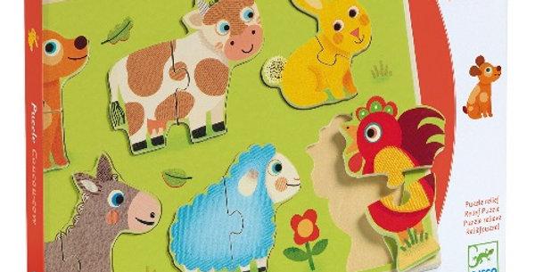 Puzzle Coucou Cow, Djeco