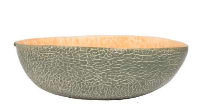 Coupe Melon Orange/Vert, Cote Table