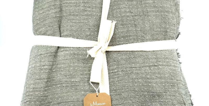 Plaid Coton Gaufre Gris, La Maison De Lilo