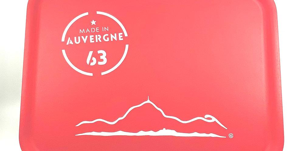 Plateau Rectangulaire Rouge Personnalisé Auvergne, Sophie Janière.