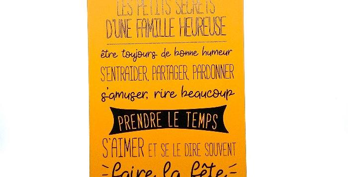 Pancarte Grand Modèle, Famille, Sophie Janière