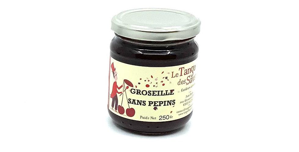 Confiture Groseille Sans Pépins, 250Gr, Le Tango Des Saveurs