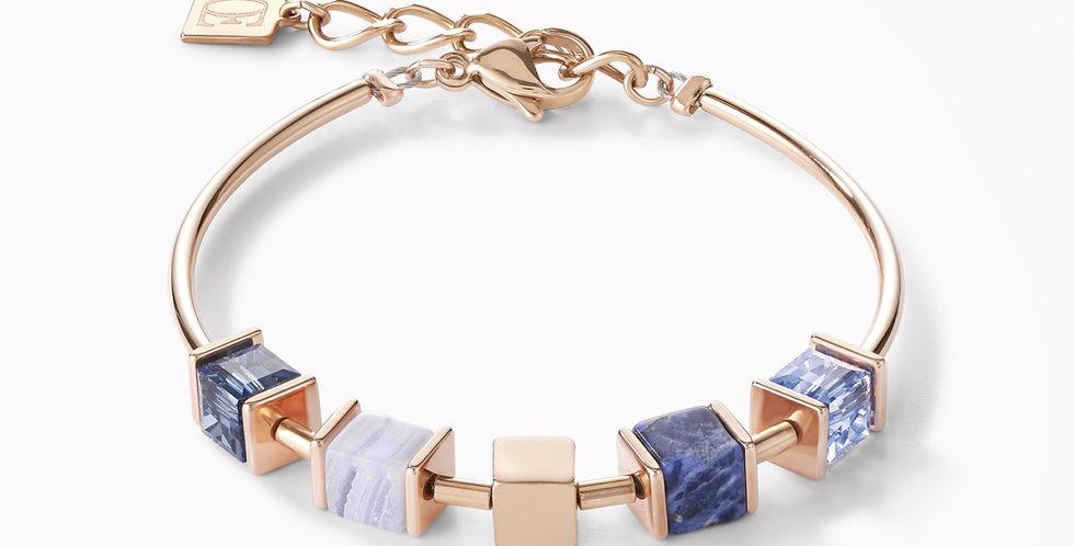 Bracelet Geo Cube Chaîne Bleu, Coeur De Lion