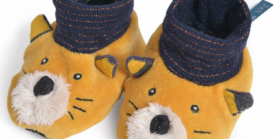 Chaussons Chat Moutarde, Moulin Roty