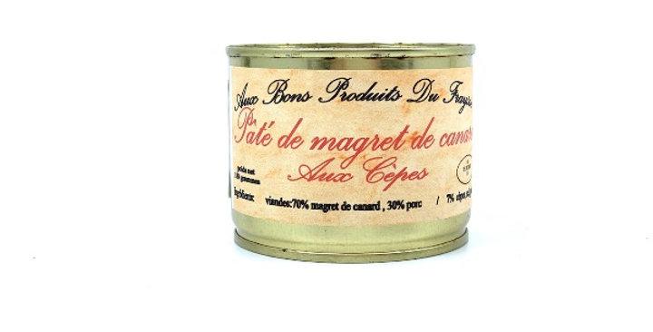 Pâté de Magret de Canard aux Cèpes, 180g, Aux Bons Produits du Fraysse