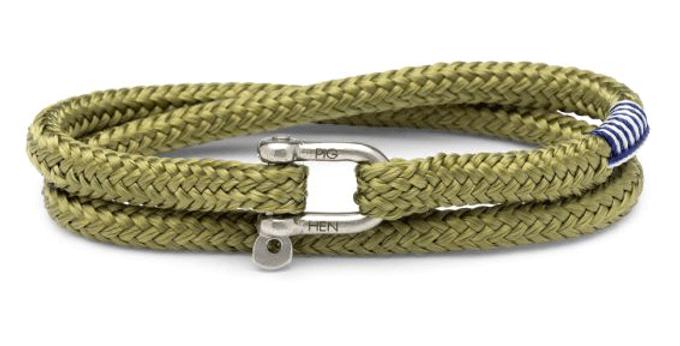 Bracelet Corde Salty Kaki L, Pig & Hen