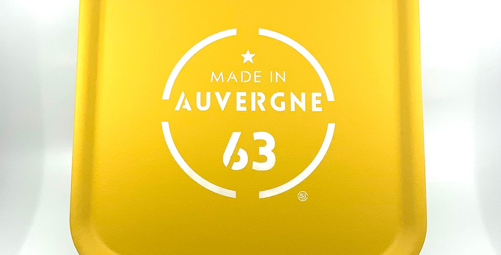 Plateau Carré Jaune Personnalisé Auvergne, Sophie Janière.