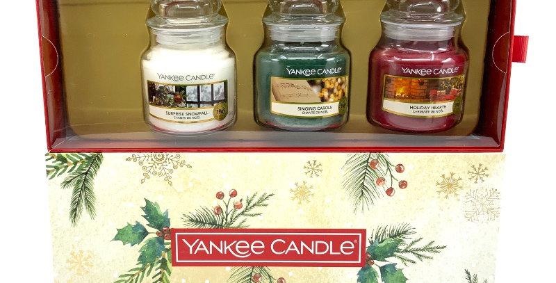 Coffret 3 Jarres Noël, Yankee Candle
