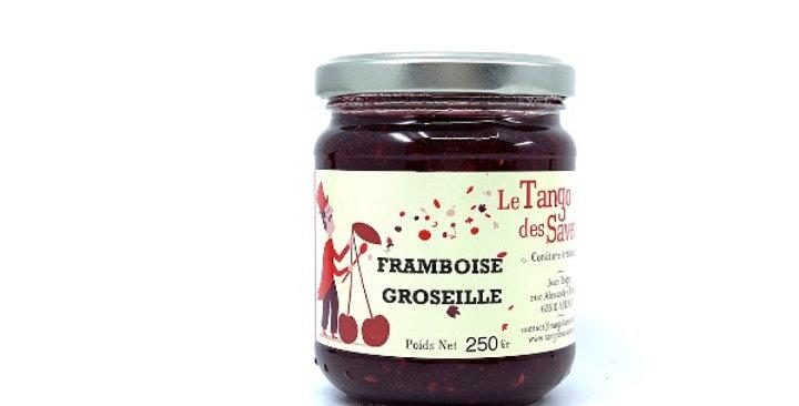 Confiture Framboise Groseille, 250g, Le Tango des Saveurs