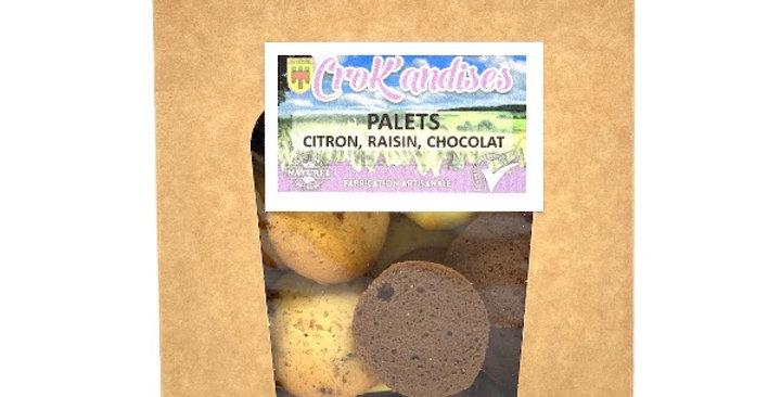 Palets Citron / Raisin / Chocolat, Crok'andises