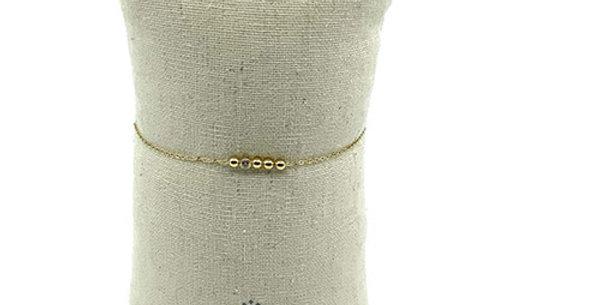Bracelet Acier Doré, Zag