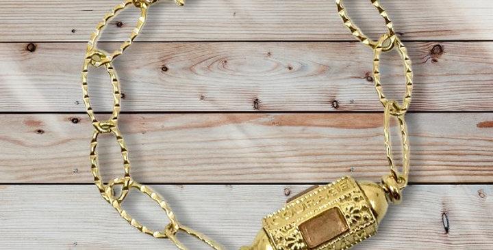 Bracelet Cylindre RoseDoré Acier