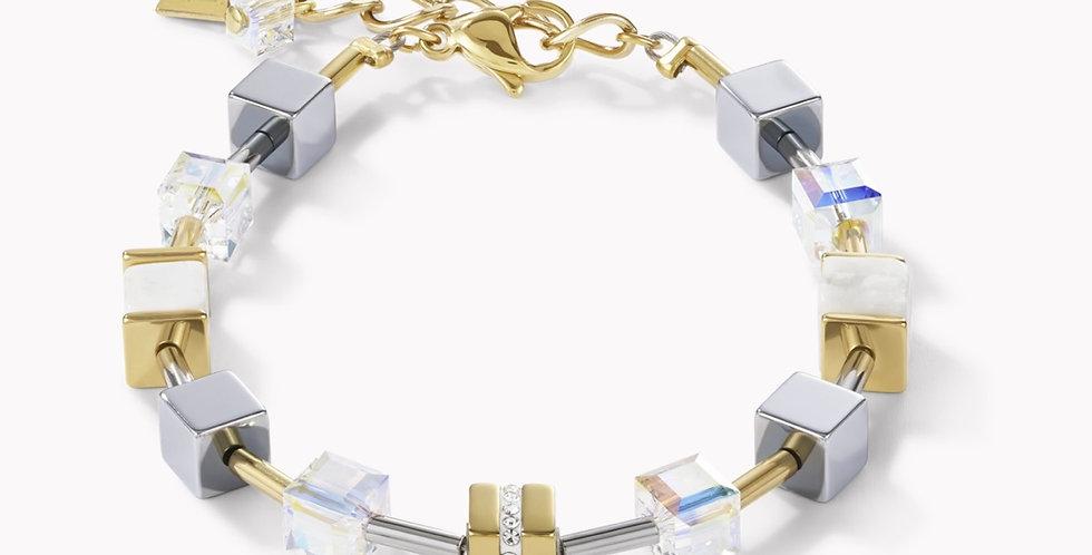 Bracelet Geo Cube Acier, Coeur De Lion