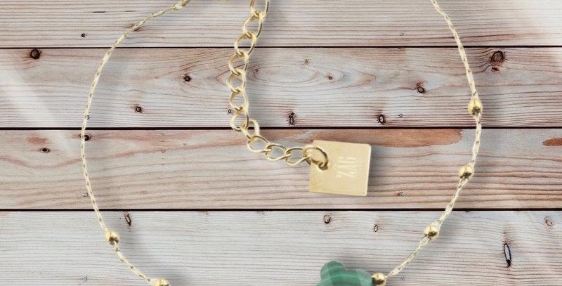 Bracelet Doré Acier Malachite, Zag