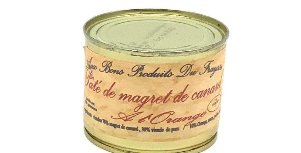 Pâté De Magret De Canard à L'Orange 180Gr,Aux Bons Produits Du Fraysse