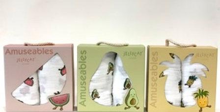 Set de 2 Langes Fruits, Jellycat