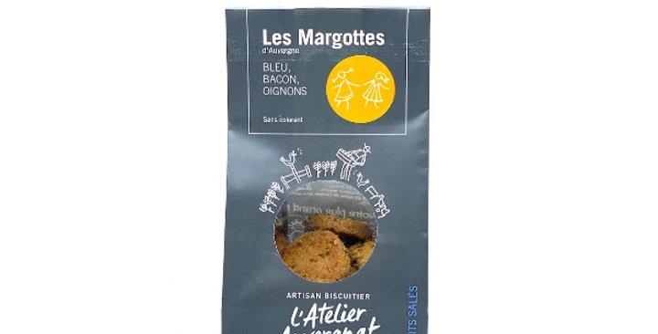 Margottes d'Auvergne, Bleu, Bacon et Oignons, 120g, L'Atelier Auvergnat