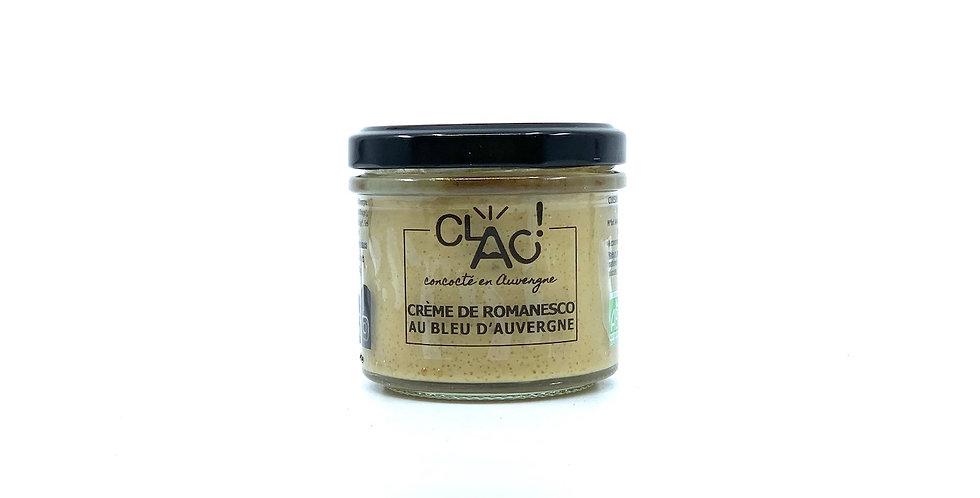 Crème de Romanesco au Bleu d'Auvergne, 100g, Clac