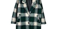 Manteau en lainage à carreaux