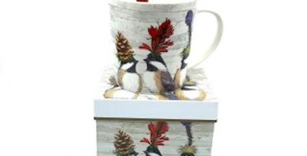 Mug Chickadee Sisters, Porcelaine, PPD