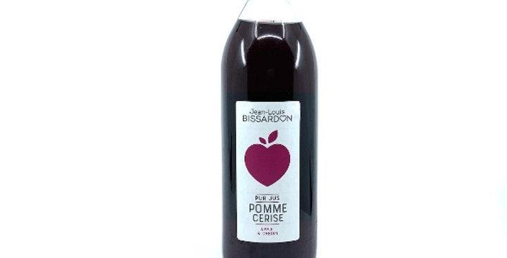 Jus Pomme Cerise, 100% Pur Jus, 1L, Bissardon/3€50
