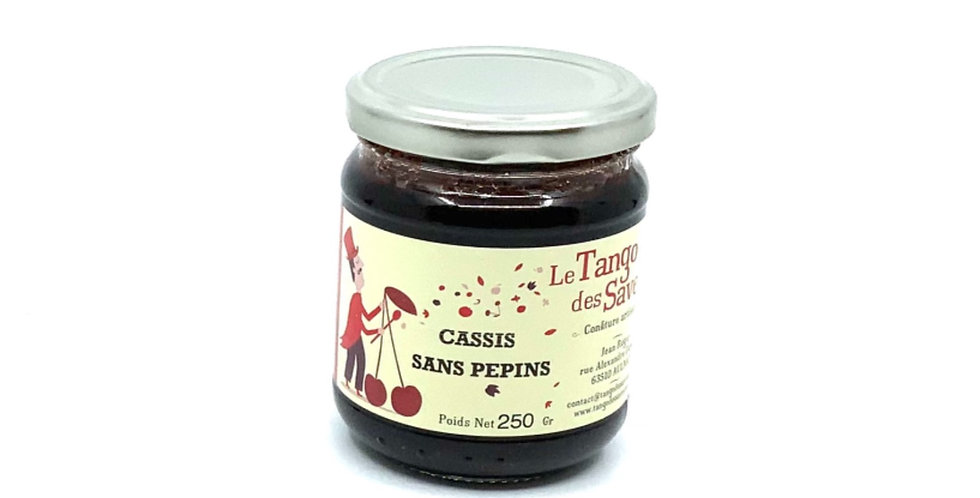Confiture Cassis Sans Pépins,250Gr,Le Tango Des saveurs