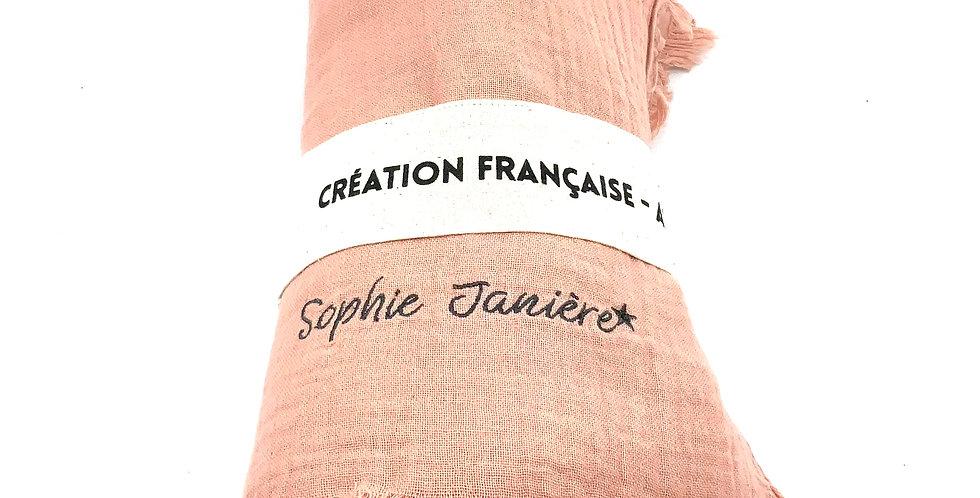Plaid Double Coton Nude, Sophie Janière