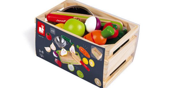 Set Maxi Fruits et Légumes, Janod