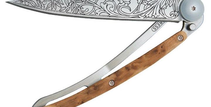 Couteau 37g, Deejo Genévrier Art Nouveau