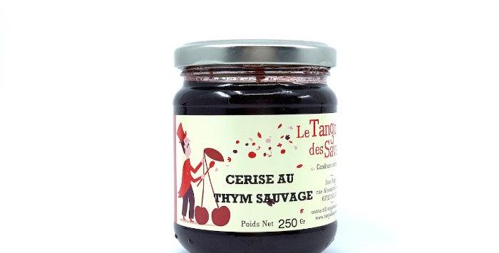 Confiture Cerise au Thym Sauvage, 250g, Le Tango des Saveurs