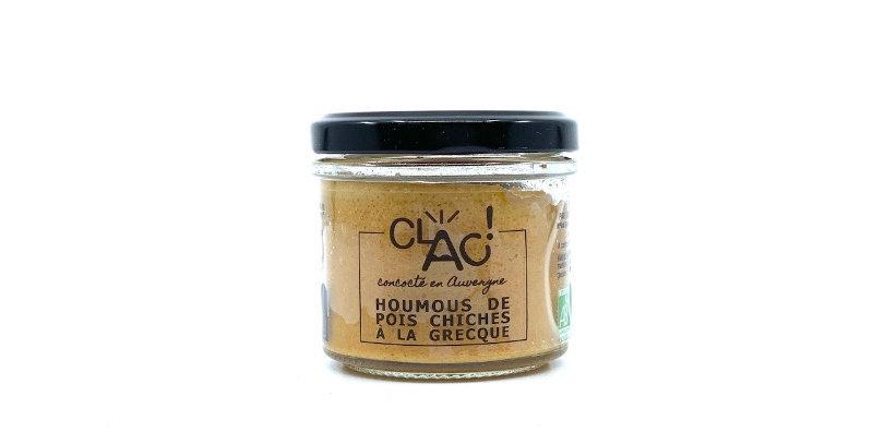 Houmous de Pois Chiches à la Grecque, 100g, Clac