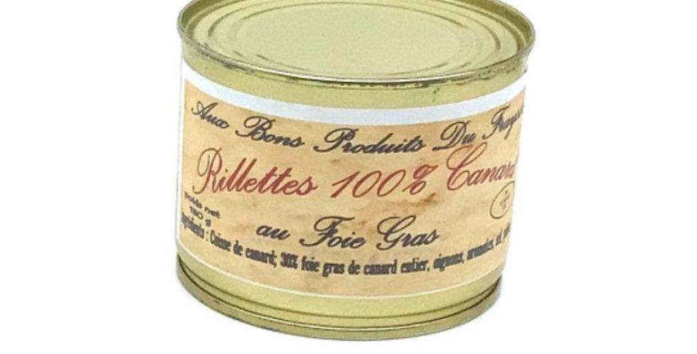 Rillettes 100% Canard Au foie Gras 180Gr, Aux Bons Produits Du Fraysse