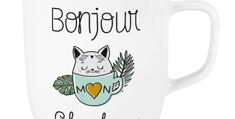 Mug XL Bonjour Chaton, Labeltour