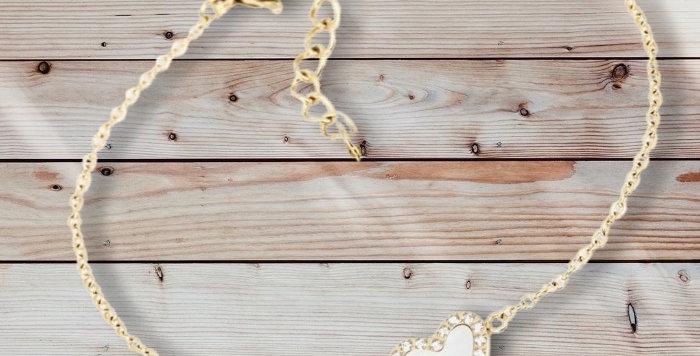 Bracelet Coeur Doré Acier Nacre, Zag