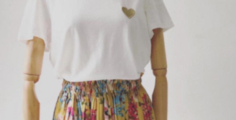 T-shirt Coeur Doré