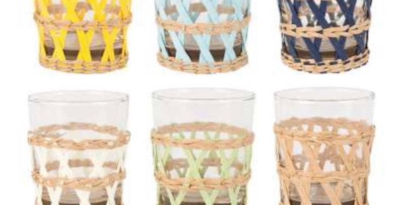 Gobelets X6 Lacis Multicolores, Cote Table