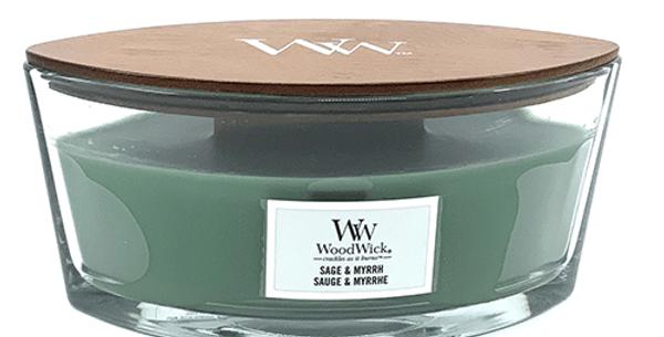Bougie Sauge & Myrrhe, WoodWick