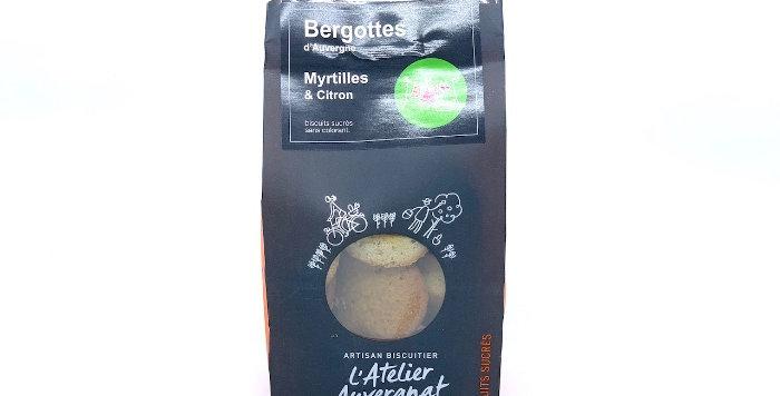 Bergottes d'Auvergne, Myrtilles et Citron, 140g, L'Atelier Auvergnat