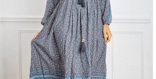Robe Longue  Boheme Bleu