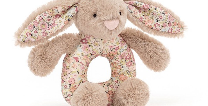 Blossom Béa Beige Bunny Grabber, Jellycat